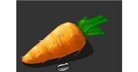 Drawing of Carrot by Dada