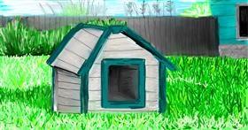 Dog house drawing by Soaring Sunshine