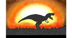 Dinosaur drawing by GJP