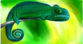 Drawing of Chameleon by Soaring Sunshine