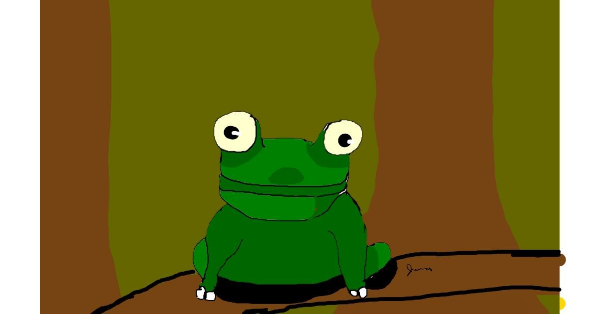 Drawing of Frog by Jessica