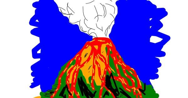 Volcano drawing by shilah