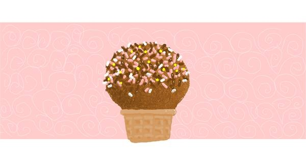 Ice cream drawing by Helena