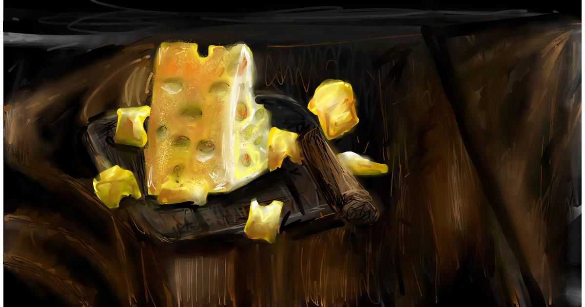 Drawing of Cheese by Soaring Sunshine
