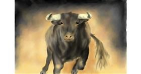 Drawing of Bull by Wizard