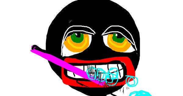 Toothpaste drawing by Anonymous