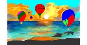 Hot air balloon drawing by GJP