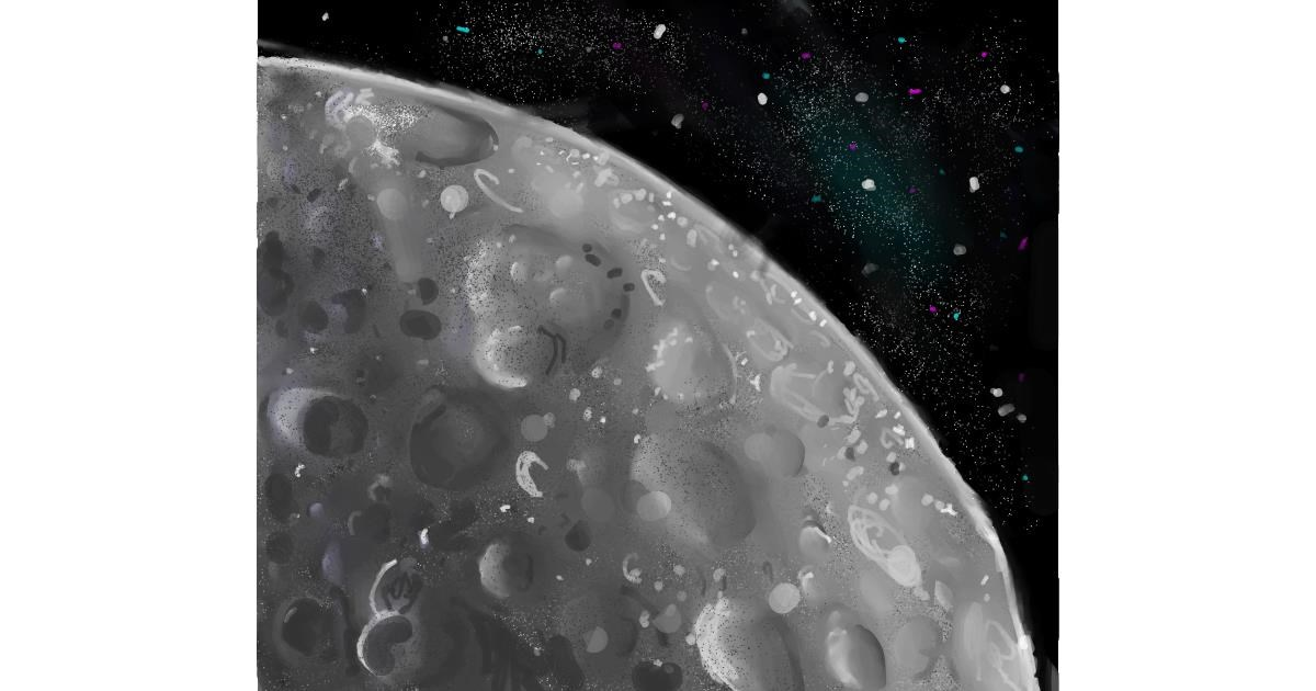 Drawing of Moon by Iris