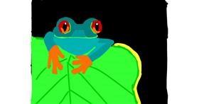 Frog drawing by MaRi