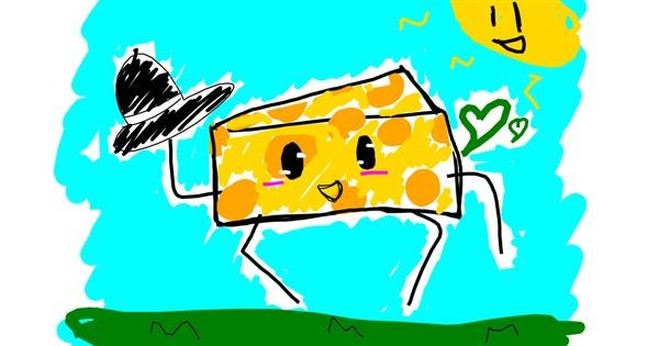 Cheese drawing by That One Llama