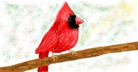 Bird drawing by Banana