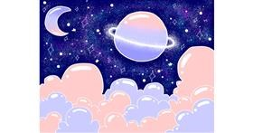 Drawing of Planet by Holy Kirbo