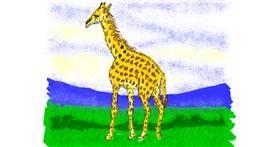 Drawing of Giraffe by Cherri