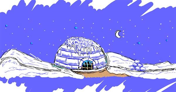 Igloo drawing by Amy <3