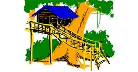 Treehouse drawing by Tommy