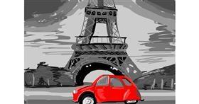 Eiffel Tower drawing by roserocket