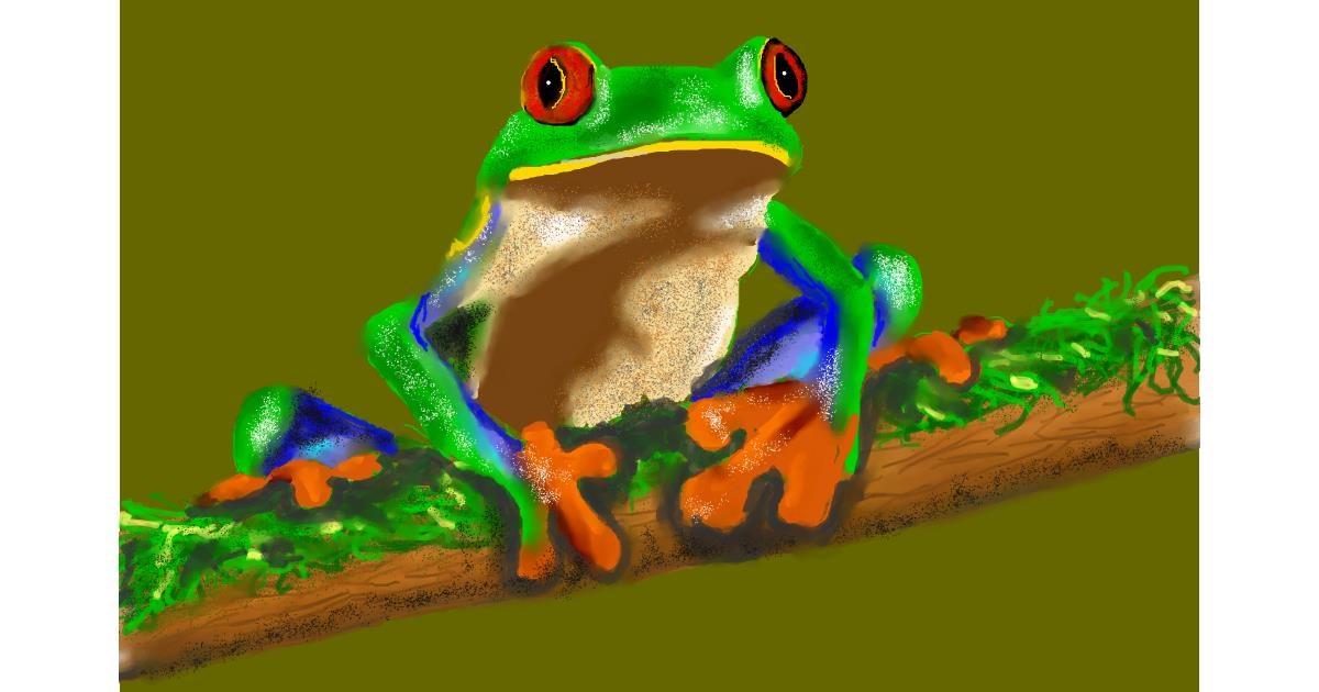 Drawing of Frog by Humo de copal