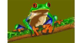 Frog drawing by Humo de copal