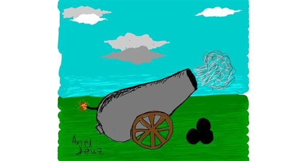 Cannon drawing by ArielDeniz