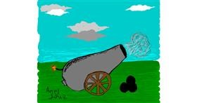 Cannon drawing by ArielDeniz
