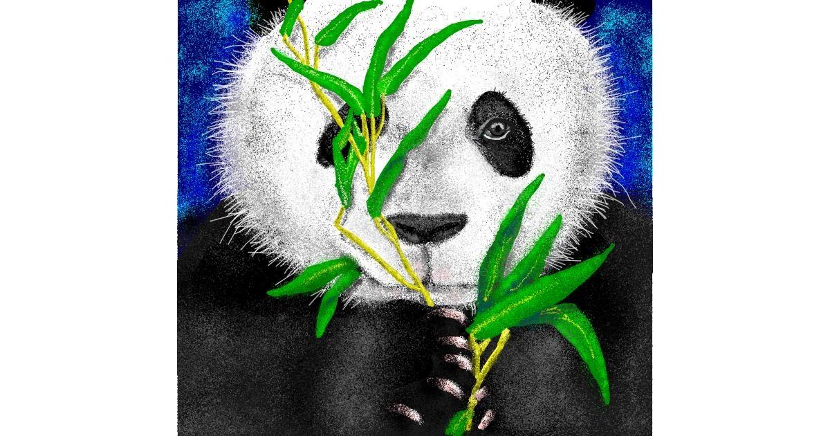 Bamboo drawing by Jison
