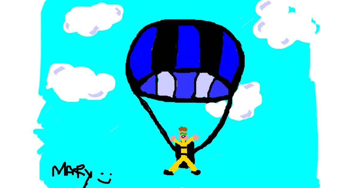 Parachute drawing by mary