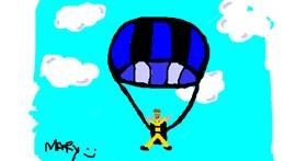Drawing of Parachute by mary