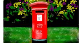 Mailbox drawing by Sirak Fish