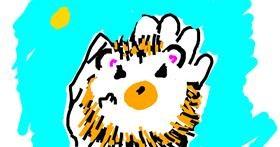 Hedgehog drawing by Aimee