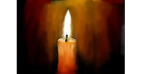 Drawing of Candle by JustMe