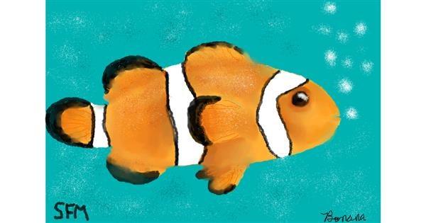 Clownfish drawing by Banana