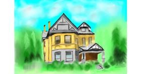 Drawing of House by Wizard