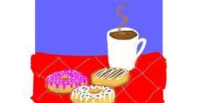 Donut drawing by Cherri