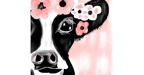 Cow drawing by Dollie🦅🐬