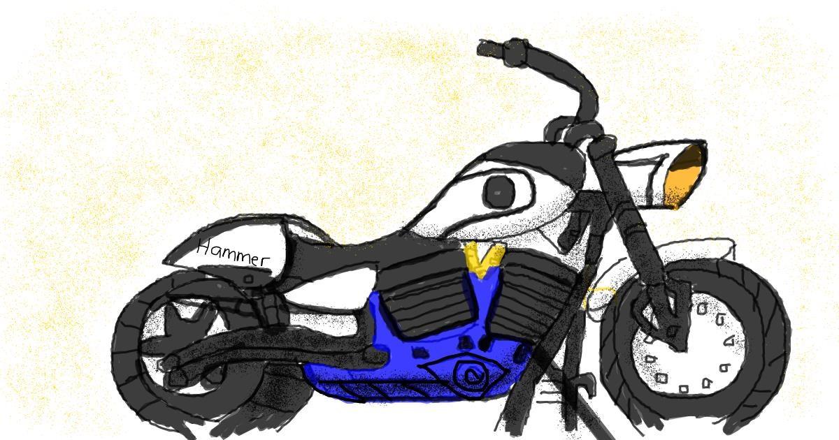 Motorbike drawing by Destiny