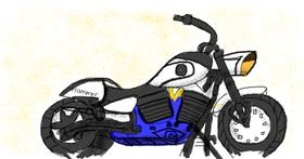 Drawing of Motorbike by Destiny