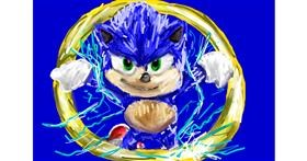Sonic the hedgehog drawing by Soaring Sunshine