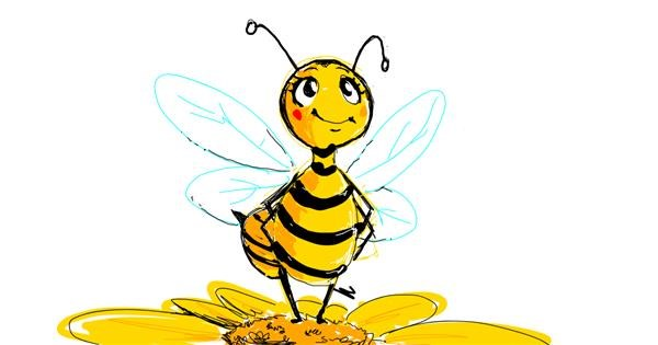 Bee drawing by Dis