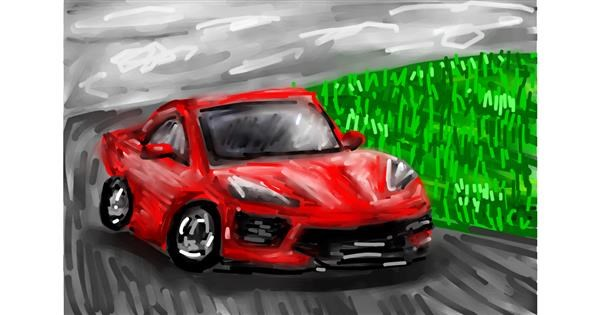Car drawing by Soaring Sunshine