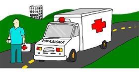Drawing of Ambulance by leonardo de vinci