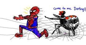 Drawing of Spider by aanturnip