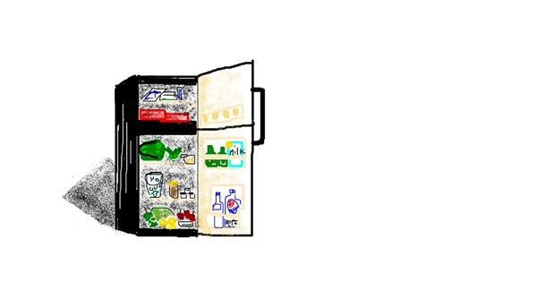 Refrigerator drawing by coconut