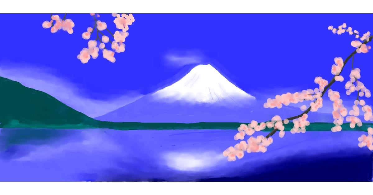 Drawing of Mountain by Pinky
