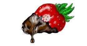 Drawing of Chocolate by Debidolittle