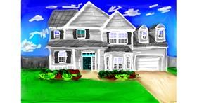 House drawing by Soaring Sunshine