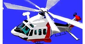 Helicopter drawing by teidolo