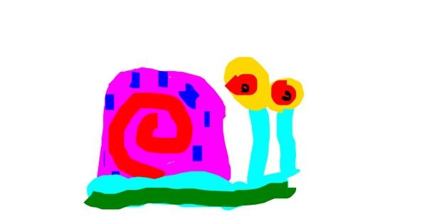 Snail drawing by Anonymous