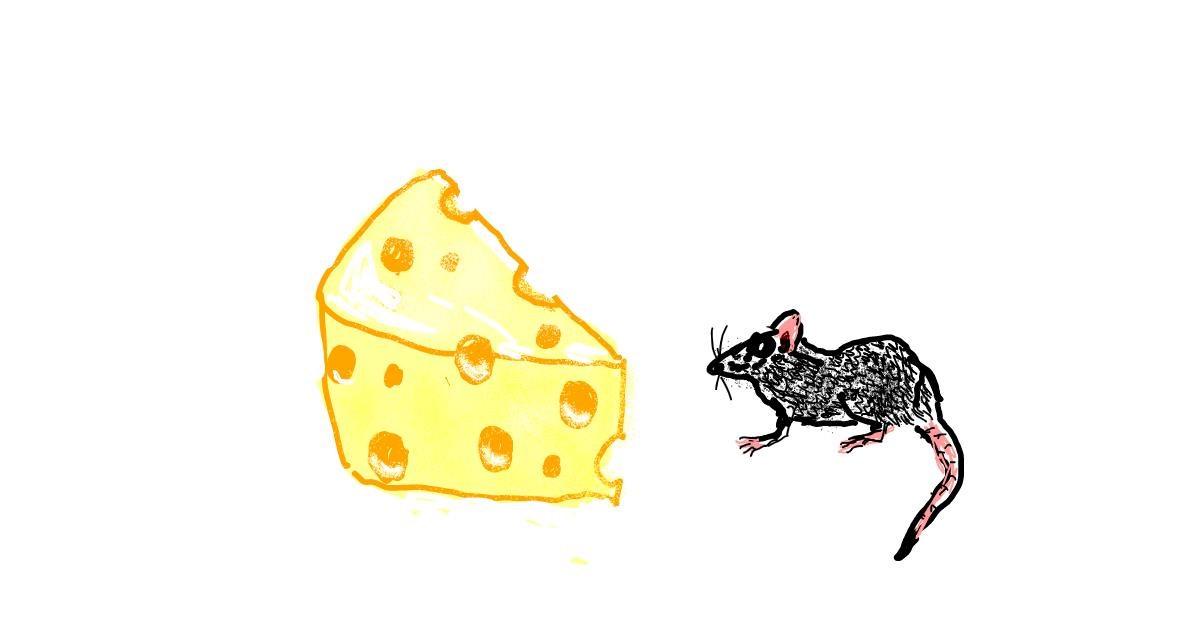 Drawing of Cheese by Cherri