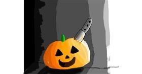 Pumpkin drawing by Data