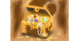 Treasure chest drawing by Pam